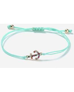 Adjustable Anchor Charm Bracelet