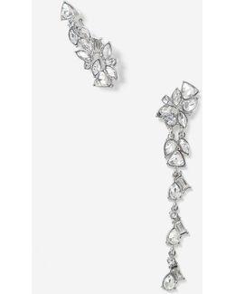 Navette Asymmetric Earrings