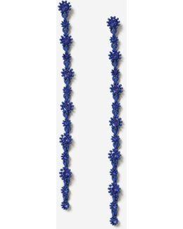 Rhinestone Blue Drop Earrings