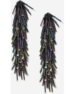 Petrol Stick Chandelier Earrings