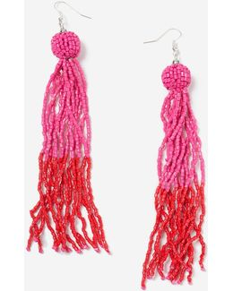 Red And Pink Seedbead Drops
