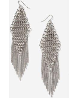Chainmail Tassel Drop Earrings