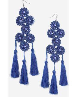 Flower & Tassel Earrings