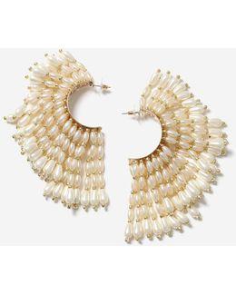 Pearl Section Earrings