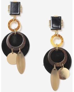 Mixed Shape Drop Earrings