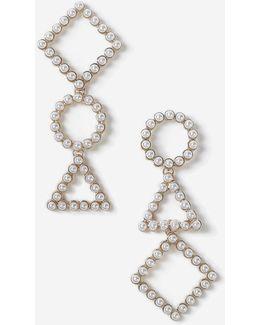 Shape Drop Pearl Earrings