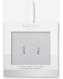 Sterling Silver Square Ear Climbers