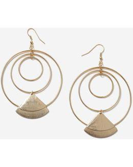 Orbital Charm Drop Earrings