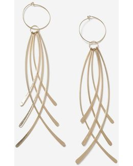 Curved Stick Drop Earrings