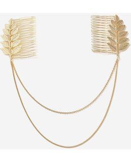 Leaf Drape Hair Combs