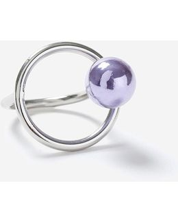 Bead And Bar Link Ring