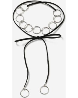 Link Tie-up Choker Necklace