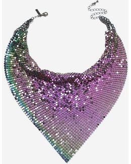 Petrol Chainmail Scarf Necklace