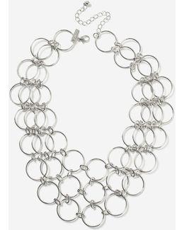 Circle Link Collar Necklaces