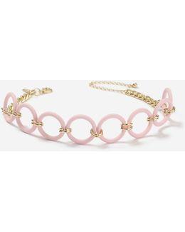 Rubberised Hoop Choker Necklace