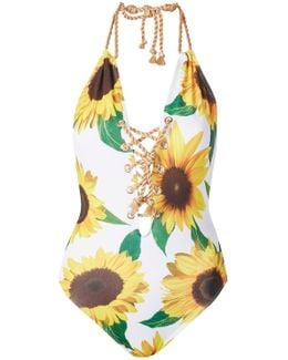 Sunflower Lace Up Swimsuit