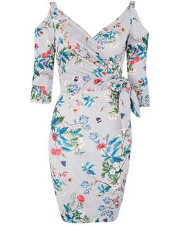 Floral Wrap Dress By