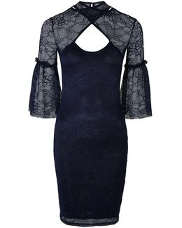 High Neck Lace Dress By