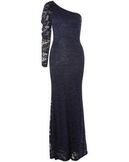 Laliana One Shoulder Lace Maxi Dress By
