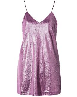Valley Sequin Mini Slip Dress By