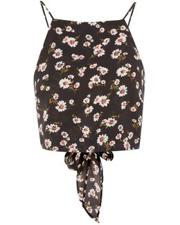 Daisy Print Tie Back Camisole Top By