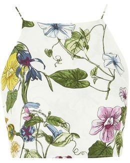 Printed Tie Back Cami Top By