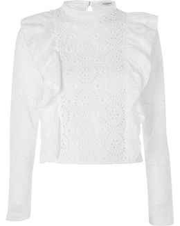 Cotton Broderie Anglais Blouse By