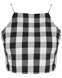 Gingham Tie Back Camisole Top By