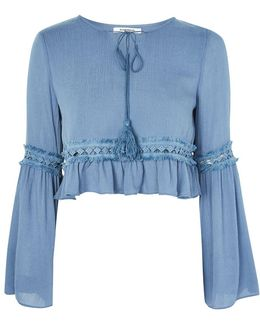 Tie Front Boho Blouse By