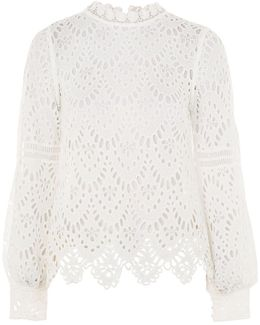 Broderie Anglaise Blouse By