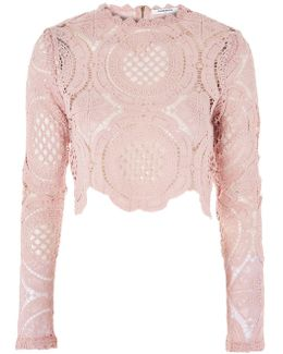 Crochet High Neck Crop Top By Glamorous