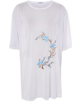 Embroidered Oversized T-shirt By