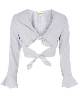 Double Tie Front Top By