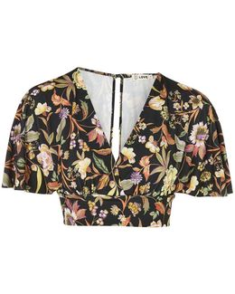 Kimono Sleeve Floral Top By