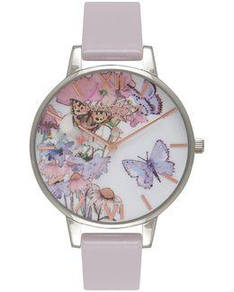 Painterly Prints Grey Lilac Watch By Olivia Burton