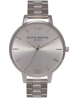 Big Dial Bracelet In Silver Watch By