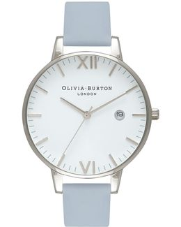 Timeless Chalk Blue And Silver Watch By