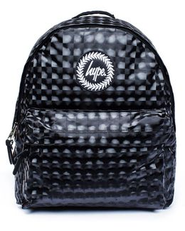 Checkered Metallic Backpack By