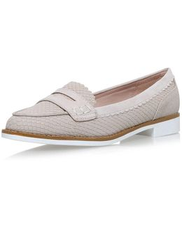 Noah Nude Flat Loafers By