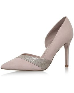 Cai Nude High Heel Court Shoes By