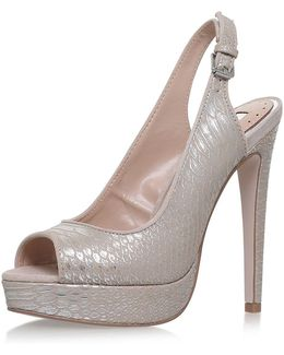 Esther Nude High Heel Sandals By