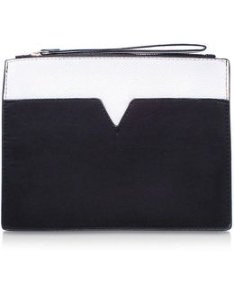 Handy White Clutch Bag By