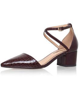 Ava Block Heeled Court Shoes