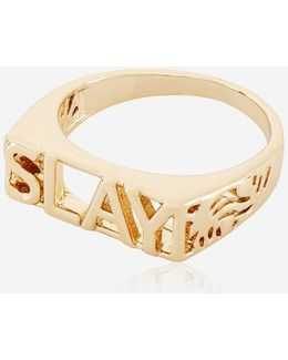 Rose Gold Slay Ring By Skinnydip