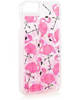 Flamingo Sequin Glitter Iphone 6/7 Plus Case By Skinnydip