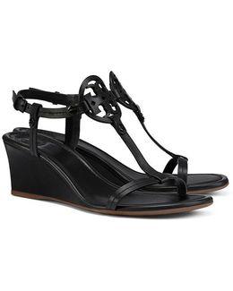 Miller Wedge Sandal, Leather