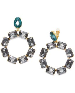 Stone Wreath Statement Drop Earring