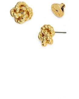 Rope Knot Stud Earring