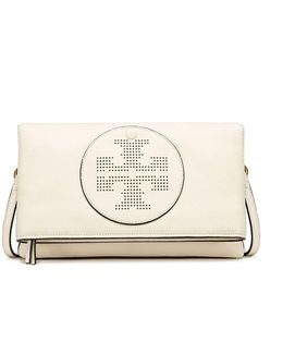 Perforated-logo Fold-over Cross-body