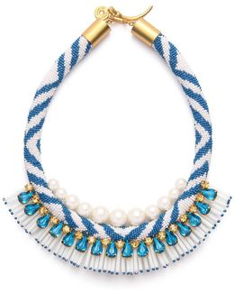 Beaded Pearl Statement Necklace
